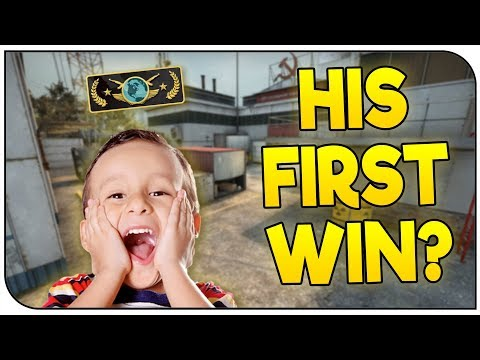 CARRYING My 8 Year Old Teammate to his FIRST VICTORY! | CS:GO