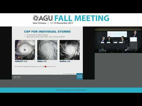 2017 Fall Meeting Press Conference: Hurricanes Harvey, Irma