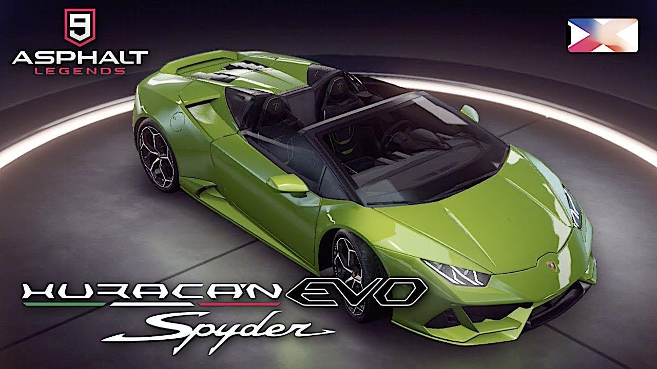 Asphalt 9 Legends Lamborghini Huracan Evo Spyder Unlocked