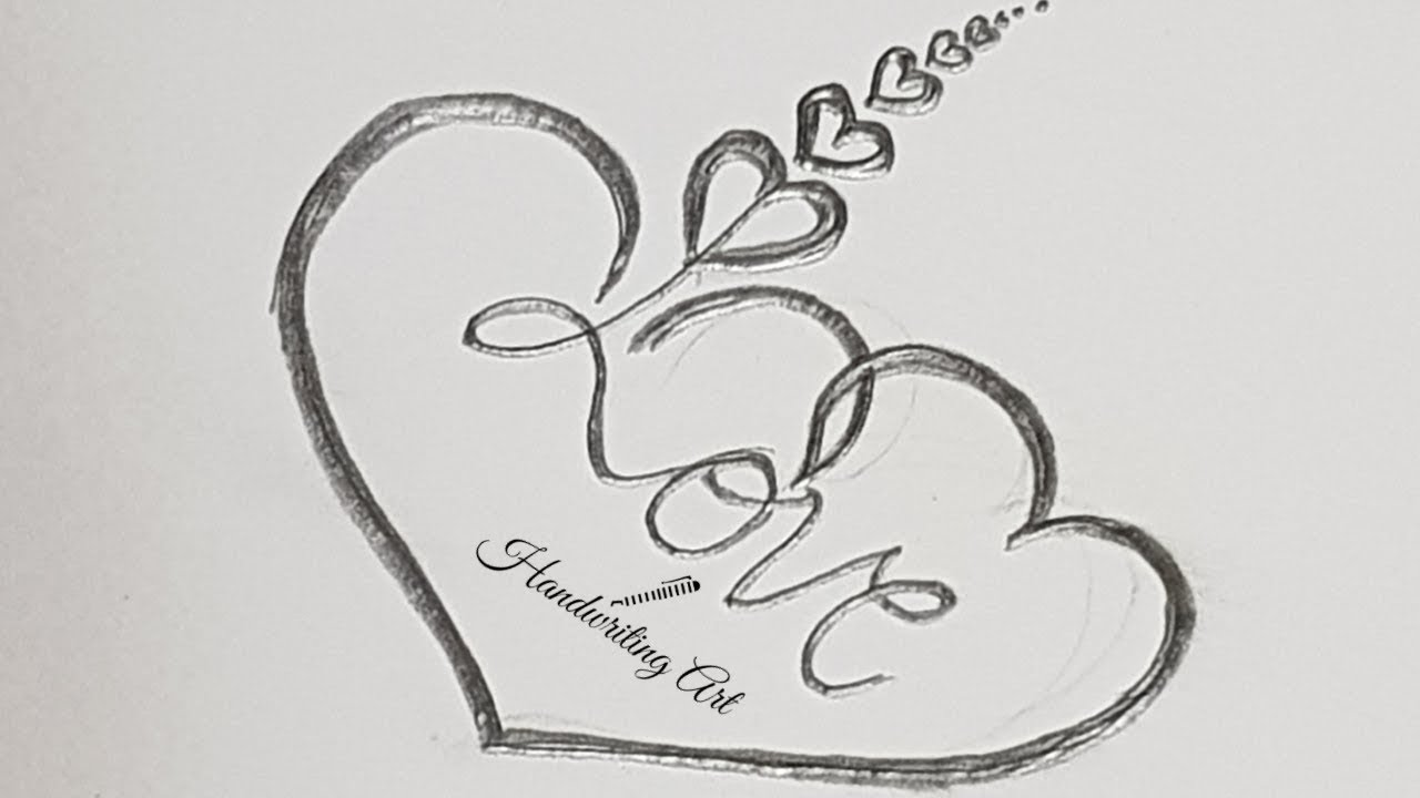 Download How To Draw Heart With Love Love Heart Tattoo Design