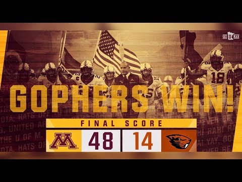 Highlights: Gopher Football Runs Past Oregon State 48-14