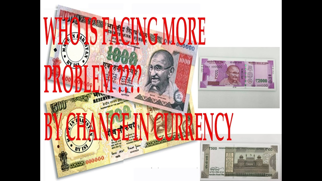 By Change Of Currency In India
