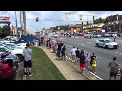 Lance Cpl Skip Wells funeral procession