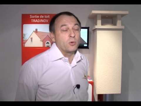 sortie de toit et conduit isol tradinov chemin es poujoulat youtube. Black Bedroom Furniture Sets. Home Design Ideas
