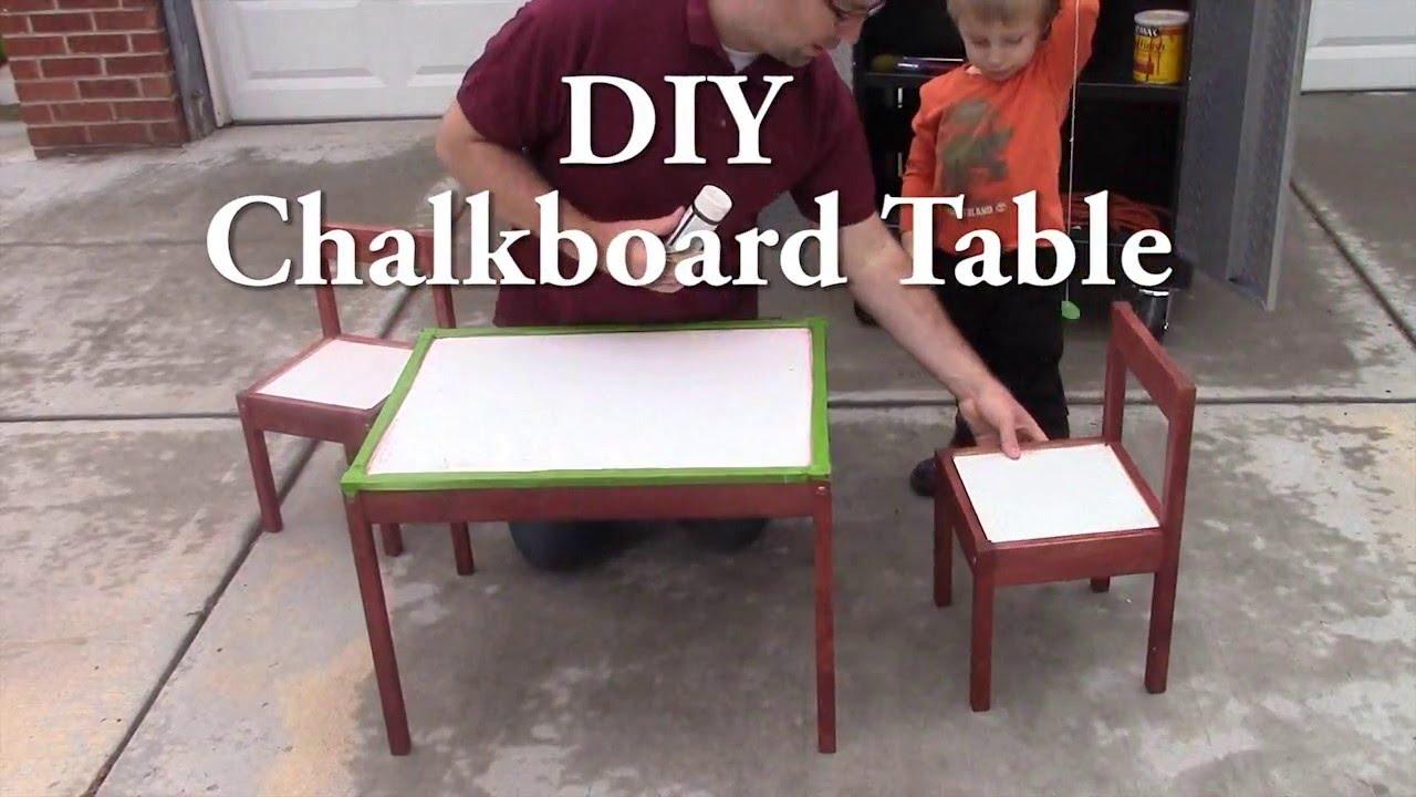 DIY Chalkboard Table   YouTube