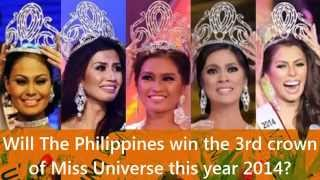 Will The Philippines win the 3rd crown of Miss Universe in 2014?