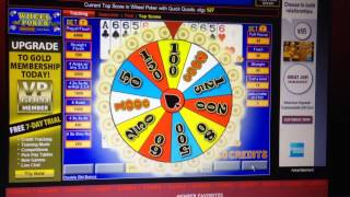 Wheel video poker with quick quads