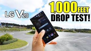 LG V20 Drop Test From 1,000 FT!! - DID IT SURVIVE??
