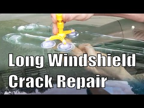 Long Windshield Crack Repair DIY (What Doesnt Work)