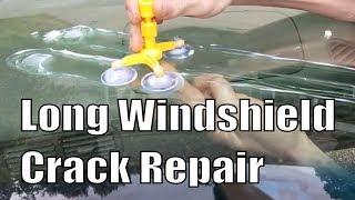 Long Windshield Crack Repair DIY (What doesnt work)