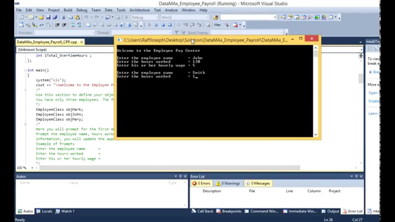 Download DataMax Employee Payroll C++