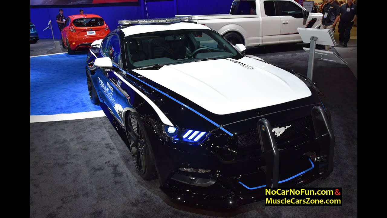 2015 ford mustang police car dragg oxnard at 2015 sema motor show youtube. Black Bedroom Furniture Sets. Home Design Ideas