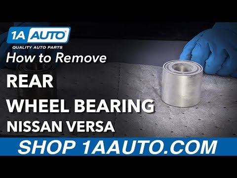How to  Replace Rear Wheel Bearing 12-19 Nissan Versa