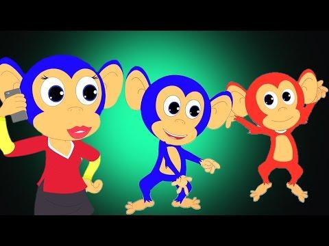 cinque poco scimmiette | Filastrocche di compilazione per i bambini | italiano