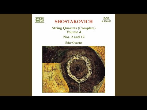 String Quartet No 2 in A Major, Op 68: III Valse: Allegro