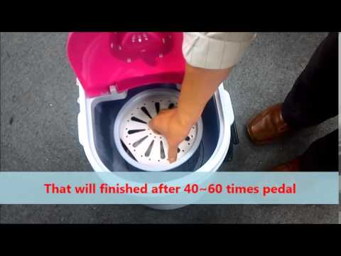 Foot power WF1301  Non Electric /Pedal power / Green Power/ Mini type wash machine