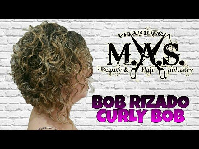 Como cortar el pelo rizado bob