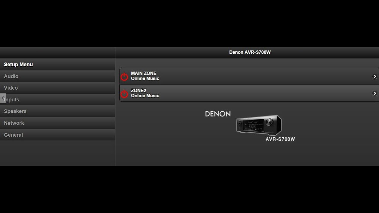 How to save your Denon settings using the IP address of the receiver