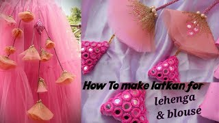How to make latakan for lehenga |long tassel making |net latkan for blouses