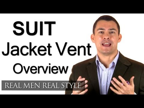 Suit Jacket Vents - Which Style For Which Body Type - Single Vent - Double Vent - No Vent Jackets
