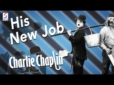 His New Job l Charlie Chaplin l Funny Silent Comedy Film (1915)