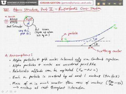 PHYS3740 Lecture21-1 Rutherford Cross-Section