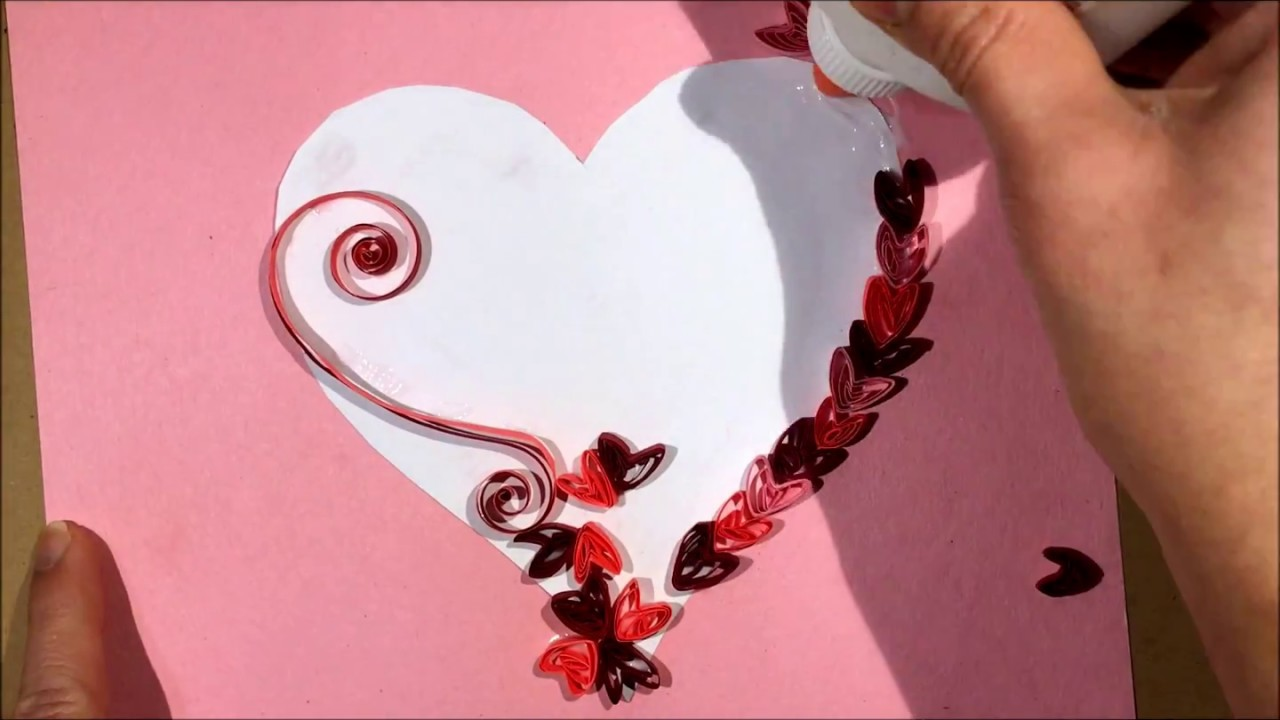 Easy Valentine S Day Card Diy Quilling Youtube