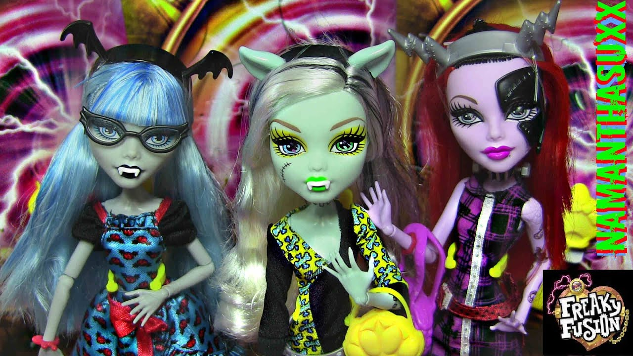 MONSTER HIGH FREAKY FUSION GHOULIA YELPS FRANKIE STEIN OPERETTA DOLL COLLECTION REVIEW VIDEO