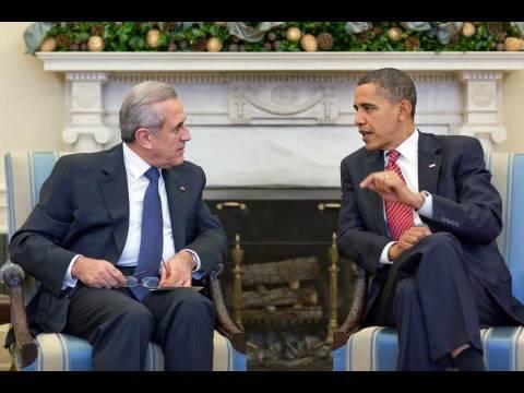 President Obama Meets with Lebanese President Sleiman