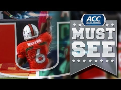 ACC Must See Moment | Miami's Herb Waters Takes Reverse For 63-Yard Touchdown | ACCDigitalNetwork