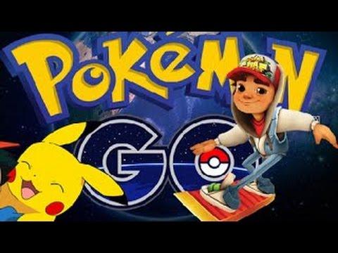 Pokemon GO Battle VS Subway Surfers Arabia IPad Gameplay HD