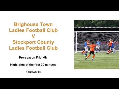 Stockport County LFC V Brighouse Town LFC 13/07/2014 First 30 Mins