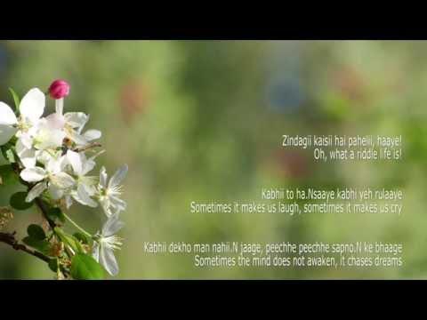 Zindagi Kise Hai Paheli - Lyrics with English Translation