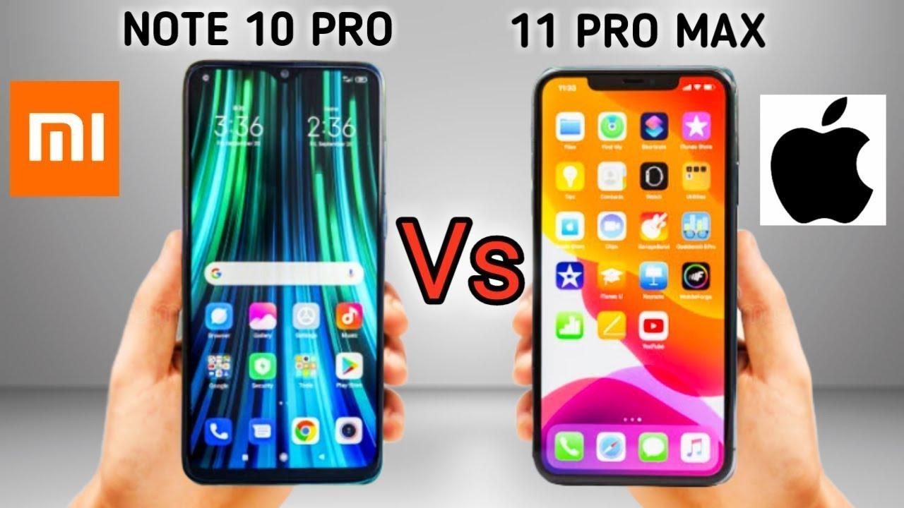 iPhone 11 Pro Max vs. Xiaomi Mi Note 10 PRO - YouTube