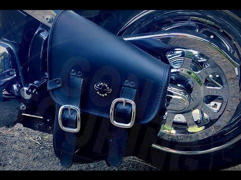 Harley Night Train >> Viking Swingarm Bag for Harley-Davidson softail - YouTube