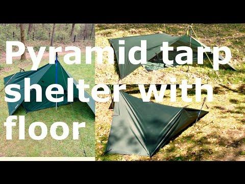 tarp shelter: floored pypramid #1 and #2