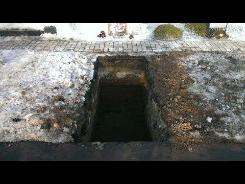 Выкопали гроб с