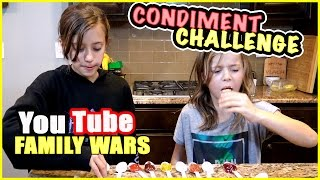 condiment challenge vs carl jingeryoutube family wars   smelly belly tv