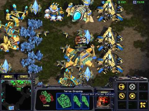 Starcraft Brood war T vs P in Python 1.3