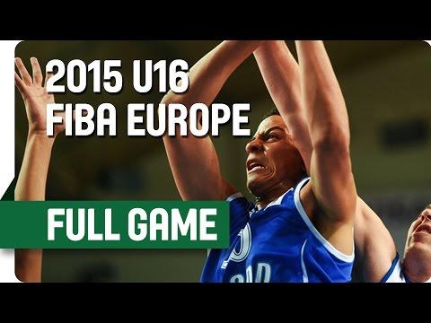 Finland v Serbia - Group C - Full Game - 2015 U16 European Championship Men