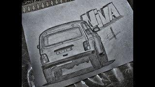 How to draw car LADA NIVA лада нива