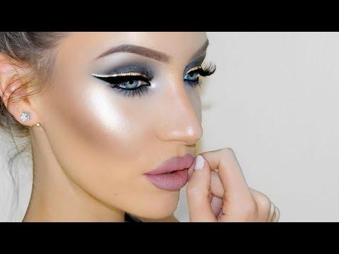 Silver Gold Smokey Eye Makeup Tutorial Stephanie Lange