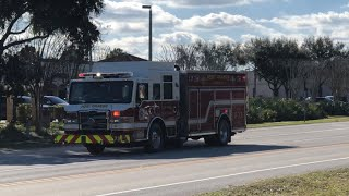 Squad Engine 73 & Battalion 70 Responding - Port Orange Fire Department