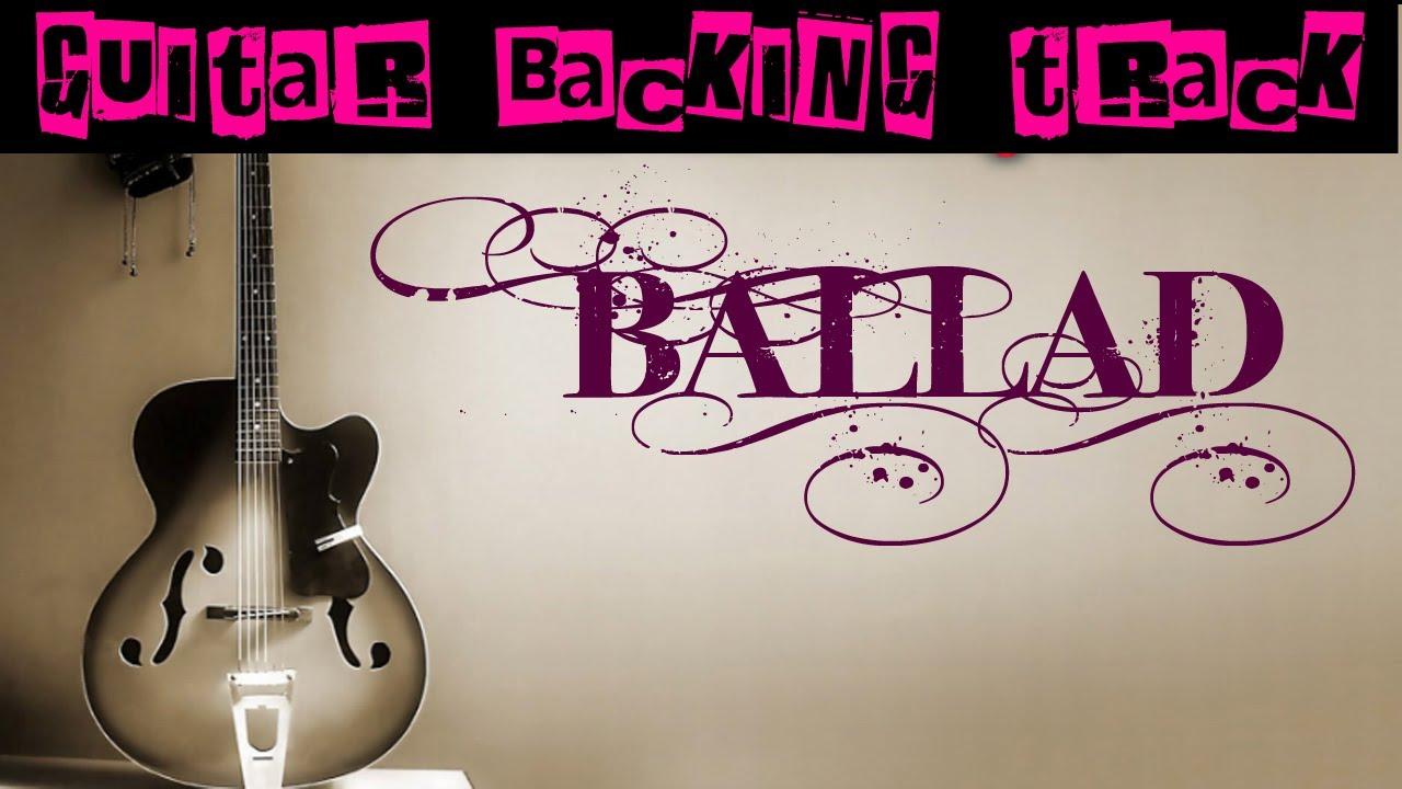 Ballad Guitar Backing Track (Am)   100 bpm