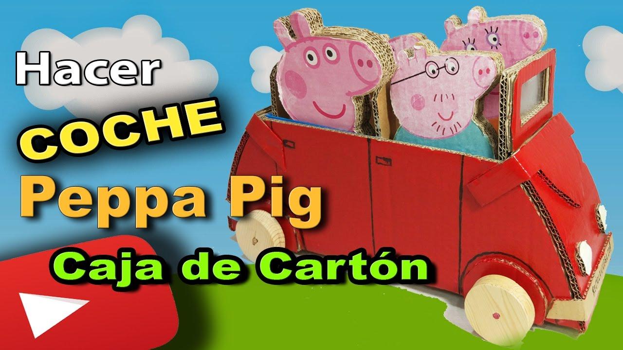 Como hacer el Coche de Pepa Pig con una caja de cartón paso a paso ...