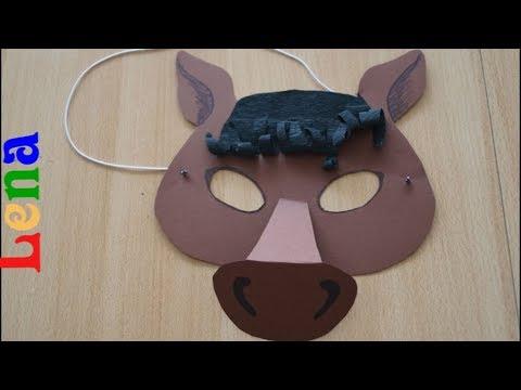 Pferde Maske Basteln