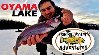 Jaw Jacker Oyama Lake BC Ice Fishing Rainbow Trout