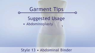Style 13 - Abdominal Binder by Contour video Compression Garments