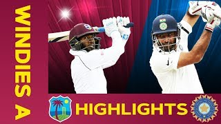 West Indies A vs India A - Match Highlights   2nd Test - Day 4   India A Tour of West Indies