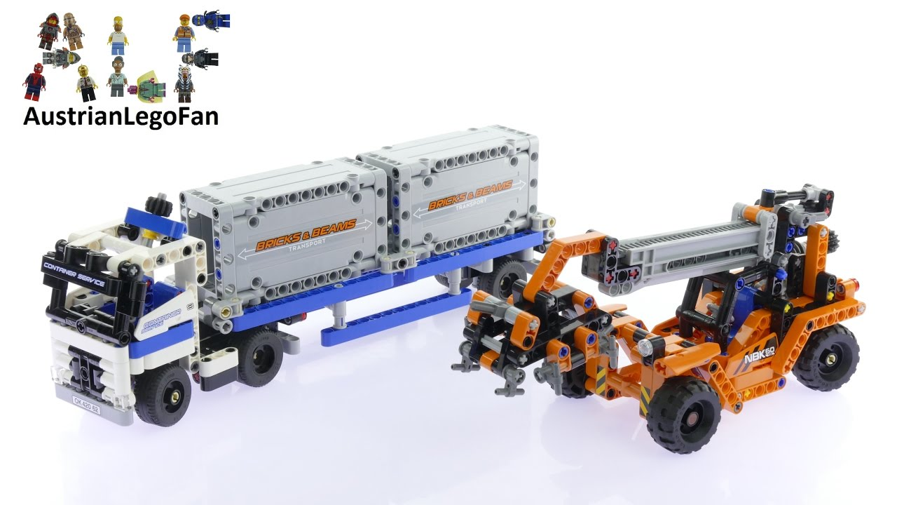 Lego Technic 42062 Container Yard Lego Speed Build Review Youtube